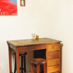 古道具/古道具活用/机/作業机 4500円で買ったお気に入りの古道具の自…