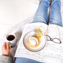 朝食/ベッド/紅茶/ティータイム/フード/わたしのごはん Good morning! 昨晩の雨もあ…