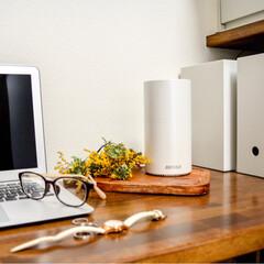 バッファロー 無線LANルーター+中継機セット WRM-D2133HP/E1S(無線LANルーター)を使ったクチコミ「Wi-Fi 親機と中継機。 親機から一番…」(1枚目)