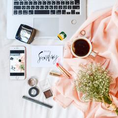 紅茶/花のある暮らし/コーディネート/ベッド/ティータイム/春のフォト投稿キャンペーン/... お気に入りのカラーを身にまとってお出かけ♡