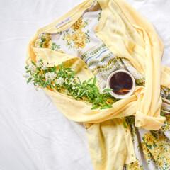 ベッド/紅茶/花のある暮らし/ティータイム/LIMIAおでかけ部/フォロー大歓迎/... 春コーデ🌷 明るめカラーで気分も明るく🤗