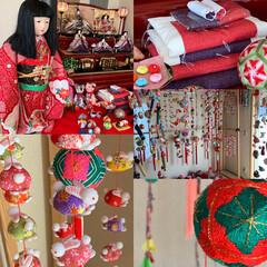 雛人形/下げもん/ひな祭り/インテリア/住まい/春の一枚 先々週お邪魔した友人宅のお雛様飾り。🌸 …