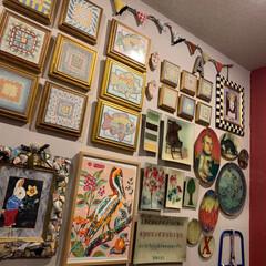 玄関ギャラリー/ウォールデコレーション/雑貨/住まい/暮らし/ここが好き 大好きなスペースは玄関ギャラリー。 好き…