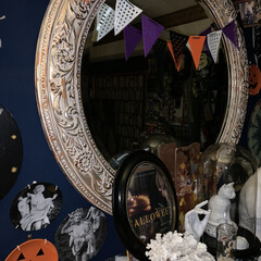 ハロウィンインテリア/ハロウィン/暮らし/ハロウィン2019 大人のハロウィンがわが家のテーマ。 ハロ…