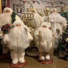 クリスマス2019/雑貨/住まい/暮らし 大人のクリスマス。 白いサンタさんたち。🎅
