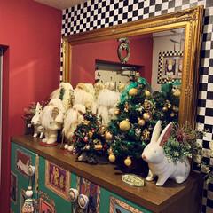 玄関インテリア/クリスマス2019/リミアの冬暮らし/雑貨/住まい/暮らし おはようございます。 クリスマスのイベン…