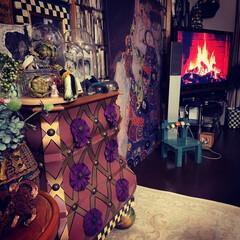 暖炉のある暮らし/夢を叶える/なんちゃって暖炉/雑貨/住まい/暮らし おはようございます。😊 場所問題でわが家…
