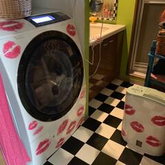 嵐のCMの洗濯機/洗面所/LIMIAインテリア部/暮らし/住まい おはようございます。 わが家の洗面所。パ…
