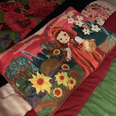 アメリ/バガイユ/キルト/クッション/寝室インテリア/インテリア/... おやすみなさい〜。💤  映画「アメリ」に…