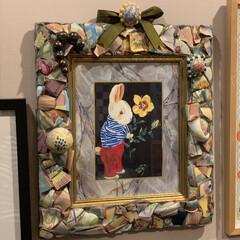 セルフペイントの壁/アート/アートのある暮らし/マッケンジーチャイルズ/フレーム/雑貨/... お気に入りのフレーム。 陶器のクラックや…