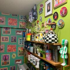 DIY/キッチン収納/キッチン雑貨/収納/キッチン/雑貨/... わが家のキッチン収納。 実用プラス遊びが…