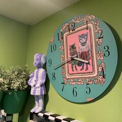 時計のリメイク/セルフペイントの壁/壁紙屋本舗/IKEA/ナタリーレテ/クロネットドール/... 時計のリメイク  元の時計にナタリーレテ…