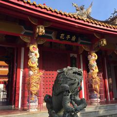 孔子廟/長崎/おでかけ/朱色 長崎の孔子廟。