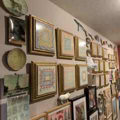 アート/LIMIAインテリア部/雑貨/DIY/暮らし/住まい/... こちらは玄関ギャラリー。 手前からジョン…