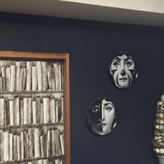 コジエル/輸入壁紙/フォルナセッティ/セルフペイントの壁/壁紙屋本舗/Re壁/... パリの黒猫色でセルフペイントした壁に、フ…(2枚目)