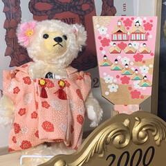 テディベア/シュタイフ/ピンク/雑貨/暮らし 雛祭りのイベントに参加しまーす。 こちら…