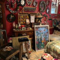 壁紙屋本舗/セルフペイントの壁/アメリ/寝室/LIMIAインテリア部/雑貨/... 通称アメリ部屋…私の寝室です。💕好きがい…