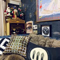 リビング/わが家のクリスマス/クリスマスインテリア/リミアの冬暮らし/雑貨/住まい/... おはようございます。😊 リビングの一角に…