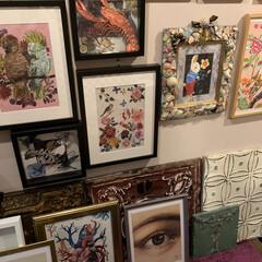 アート/LIMIAインテリア部/雑貨/ハンドメイド/DIY/住まい/... こちらは玄関ギャラリー。 ロブスターのフ…