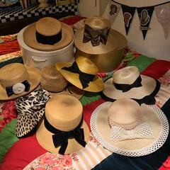 お帽子/雑貨/おしゃれ/最近のコーデ おはようございます。 私の夏帽子コレクシ…