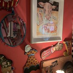 セルフペイントの壁/アメリ/LIMIAインテリア部/雑貨/DIY/暮らし/... おはようございます。😊 映画「アメリ」を…
