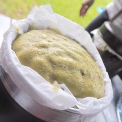 ペットボトルキャップ/蒸しパン/野外料理 蒸しパン上手に出来ました😊