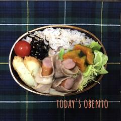 雑穀米/お昼ご飯/お弁当/曲げわっぱ/フォロー大歓迎/わたしのごはん/... おはようございます。朝からコロッケ揚げち…