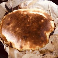 チーズケーキ/クリスマスケーキ/クリスマス2019/ハンドメイド リクエストのチーズケーキ、混ぜて焼くだけ…(1枚目)