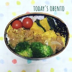 蒸しかぼちゃ/ごま昆布が必須/カツ丼/体質改善?/雑穀米弁当/お昼ご飯/... おはようございます。行ってきます(*˘︶…