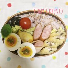 ゆで卵/お昼ご飯/雑穀米弁当/体質改善?/節約生活/雑穀米/... 4日間サボってた訳ではありません💦 いた…