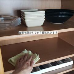 掃除/キッチン用おそうじクロス/そうじの神様/パストリーゼ/拭き掃除/食器棚の拭き掃除/... こんばんは🌃 . . 今日のこそうじは、…(4枚目)