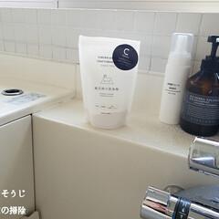 風呂床の洗浄剤(p2/風呂床クリーナー バスクリーナー 木村石鹸 風呂用洗剤 風呂掃除/4944520002846) | SOMALI(浴室洗剤)を使ったクチコミ「こんばんは😃🌃 . . 今日のこそうじは…」