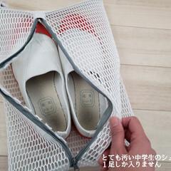 そうじの神様 洗濯機 上履き ネット 靴 洗濯ネット 靴用 シューズ丸洗いブラッシングネット 25×38cm KBセーレン 日本製 ネコポス(洗濯ネット)を使ったクチコミ「こんばんは😃🌃 . . 🎅🎄Merry …」(8枚目)