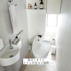 トイレスティック/ダイソー/クエン酸水スプレー/掃除/トイレ掃除/トイレの念入り掃除/... こんばんは🌃 . . 今日のこそうじは、…(1枚目)