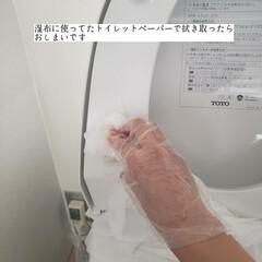 トイレスティック/ダイソー/クエン酸水スプレー/掃除/トイレ掃除/トイレの念入り掃除/... こんばんは🌃 . . 今日のこそうじは、…(6枚目)