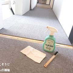 隙間ブラシ/ウタマロクリーナー/レールの掃除/毎日こそうじ/こそうじ/住まい/... こんばんは😃🌃 . . 今日のこそうじは…