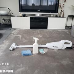 床掃除 フローリング用おそうじクロス 3枚入り(掃除用ブラシ)を使ったクチコミ「こんばんは😃🌃 . . 今日のこそうじは…」