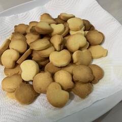 ノーマルクッキー/グリル/型押し/失敗しない/手作りクッキー/ハンドメイド 朝からクッキー焼きました!😄色々と分量に…