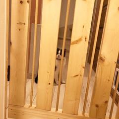手作りドア/ペットゲート/令和元年フォト投稿キャンペーン/令和の一枚/LIMIAファンクラブ/DIY/... 我が家は二階がリビングなので、一階の玄関…(4枚目)
