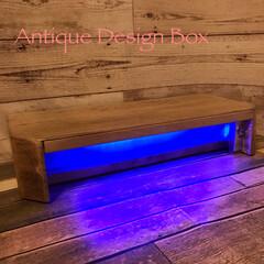 DIY/机上台/間接照明/パソコンラック 【Antique Design Box】…