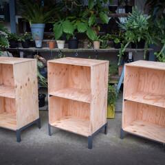 構造用合板/溶接/カラーボックス/ハンドメイド/DIY/雑貨/... カラーボックスをDIY。 子供部屋の収納…