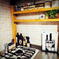 DIY初心者/令和元年フォト投稿キャンペーン/はじめてフォト投稿/フォロー大歓迎/収納/キッチン/...  残ってた2×4材を使ってキッチン棚を作…