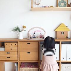 ひな祭り/ひなまつり/お雛様/雛人形/桃の節句/雛祭り/... 優しい雰囲気が素敵なお部屋に、白とピンク…(1枚目)