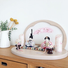 ひな祭り/ひなまつり/お雛様/雛人形/桃の節句/雛祭り/... ふらここではお人形をはじめ、飾り台や屏風…(1枚目)