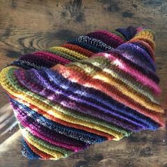 ネックウォーマー/かぎ針編み/ファッション/わたしの手作り カラフルネックウォーマー。 かぎ針編みで…