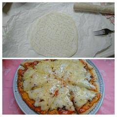 YouTube動画 今朝は フライパンでピザを作りました! …