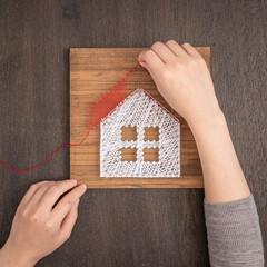 簡単DIY/ハンドメイド/ストリングアート/プレゼント/ディアウォール/アート/... お好きなデザインを紙に描き、木板に固定し…