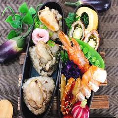 わたしのごはん/わたしの手作り   ❀今日の献立🍱 . . ❀牡蠣炊き込…