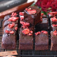 おうちカフェ/手作りスイーツ/手作りお菓子/手作りおやつ/手作りケーキ チョコレートブラウニー🍫  #チョコレー…(1枚目)