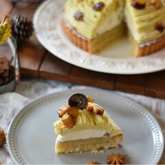 手作りおやつ/手作りケーキ/手作りお菓子/手作りスイーツ いモンブランタルト。(3枚目)